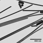 TEM image of nanoComposix silver nanowires.